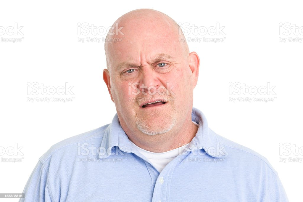 Shocked and Confused Man stock photo
