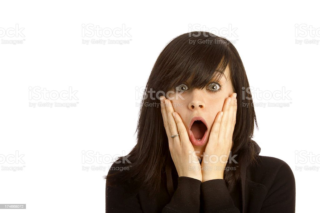 Shocked and Surprised royalty-free stock photo