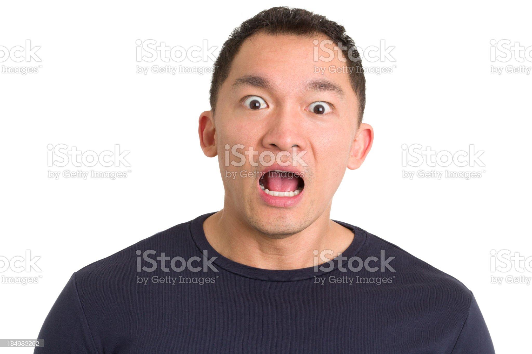 Shocked Asian Man royalty-free stock photo