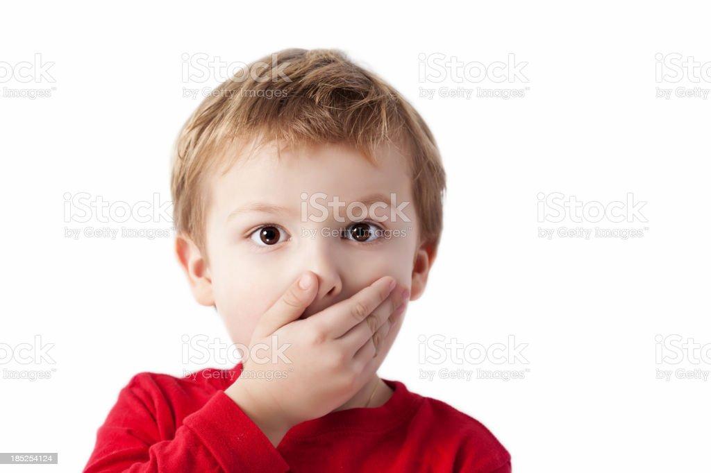 Shocked Boy stock photo