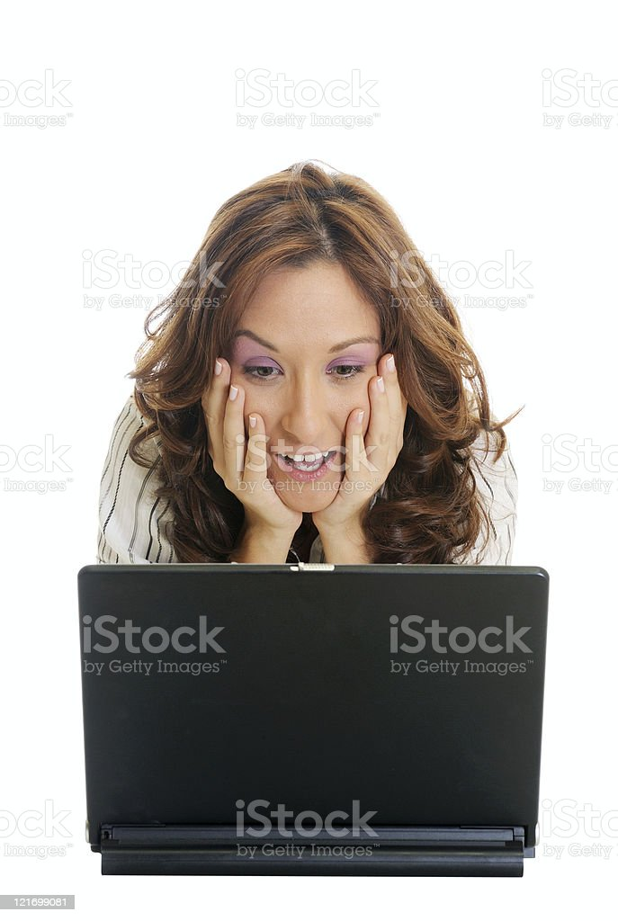 shocked business woman royalty-free stock photo
