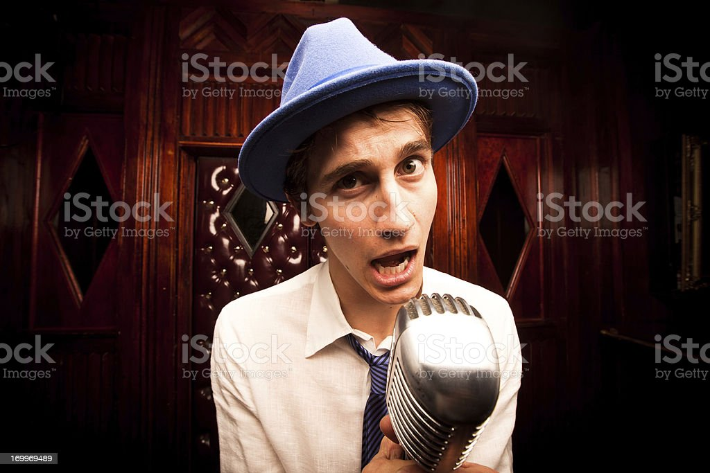 Shocked Comedian royalty-free stock photo
