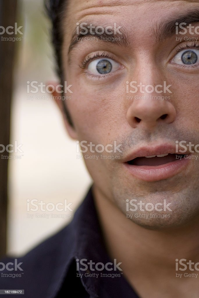 Shocked Expression royalty-free stock photo