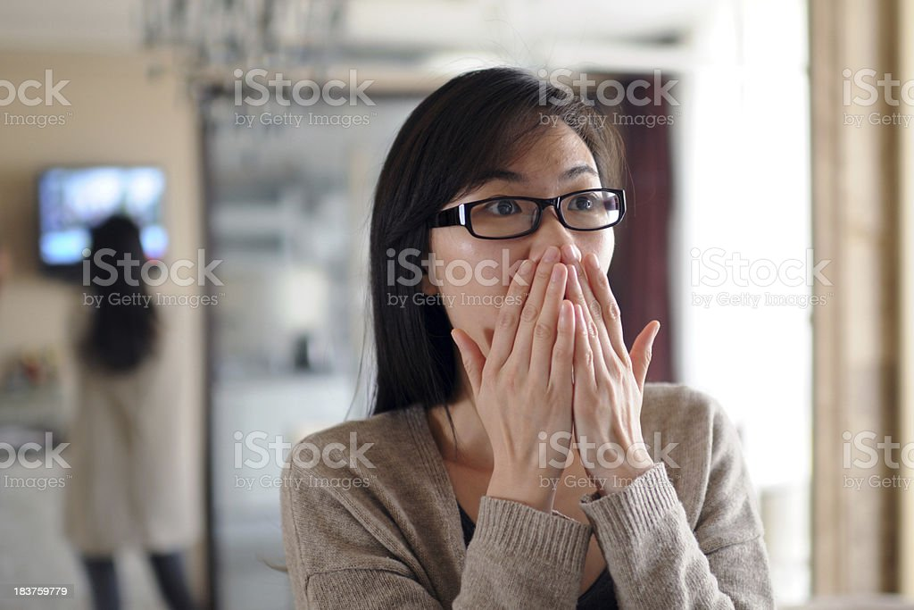 Shocked Expression - XLarge royalty-free stock photo