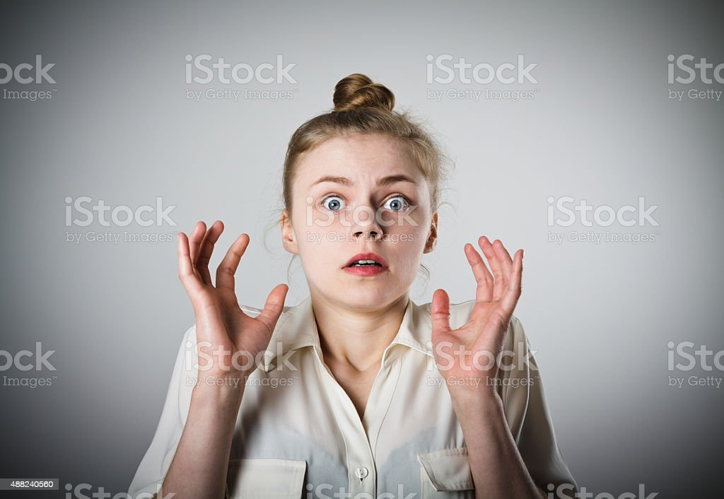 Shocked girl stock photo