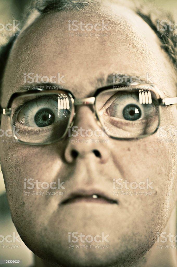 Shocked man stock photo