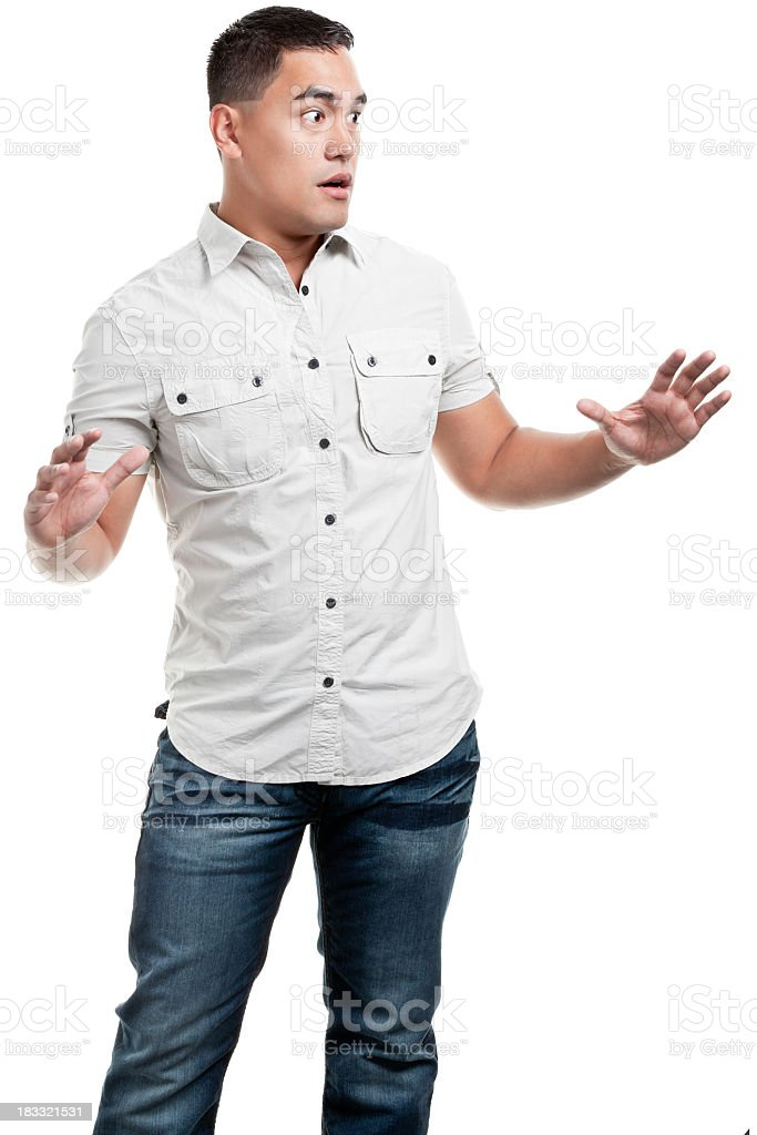 Shocked, Nervous Young Man royalty-free stock photo