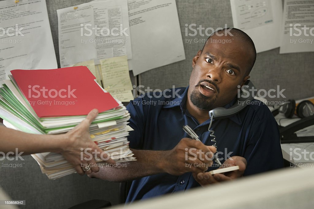 Shocked Office Worker royalty-free stock photo