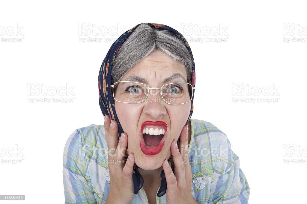 Shocked Old Lady royalty-free stock photo