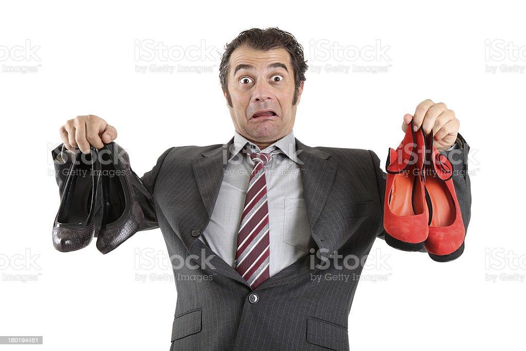 Shocked royalty-free stock photo