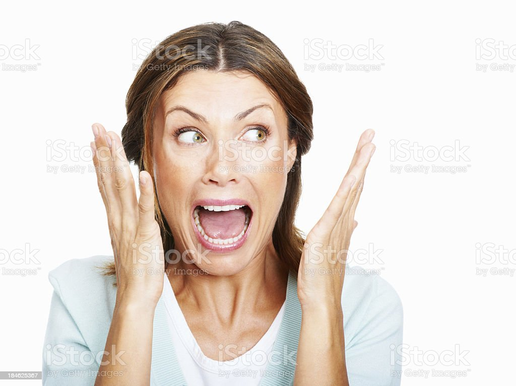 Shocked! stock photo