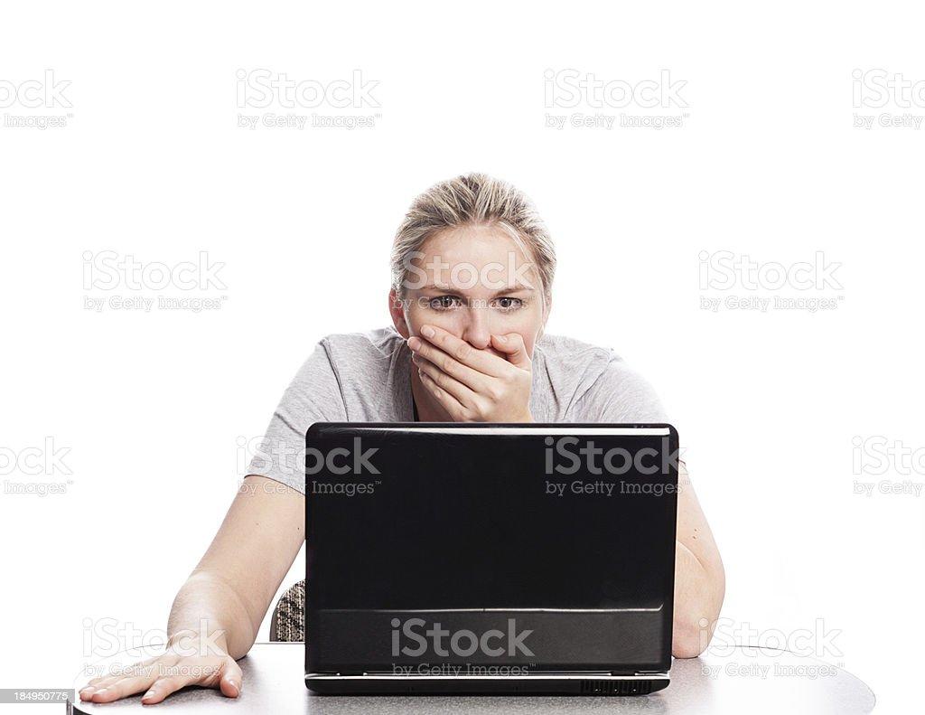 Shocked stock photo