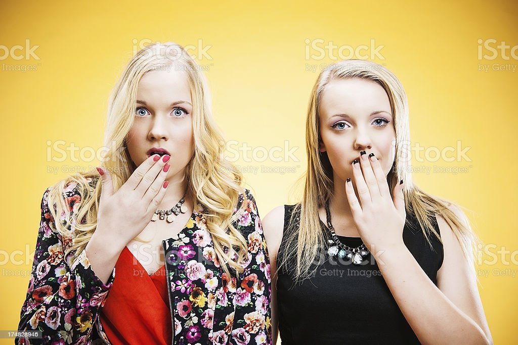 Shocked teenagers royalty-free stock photo