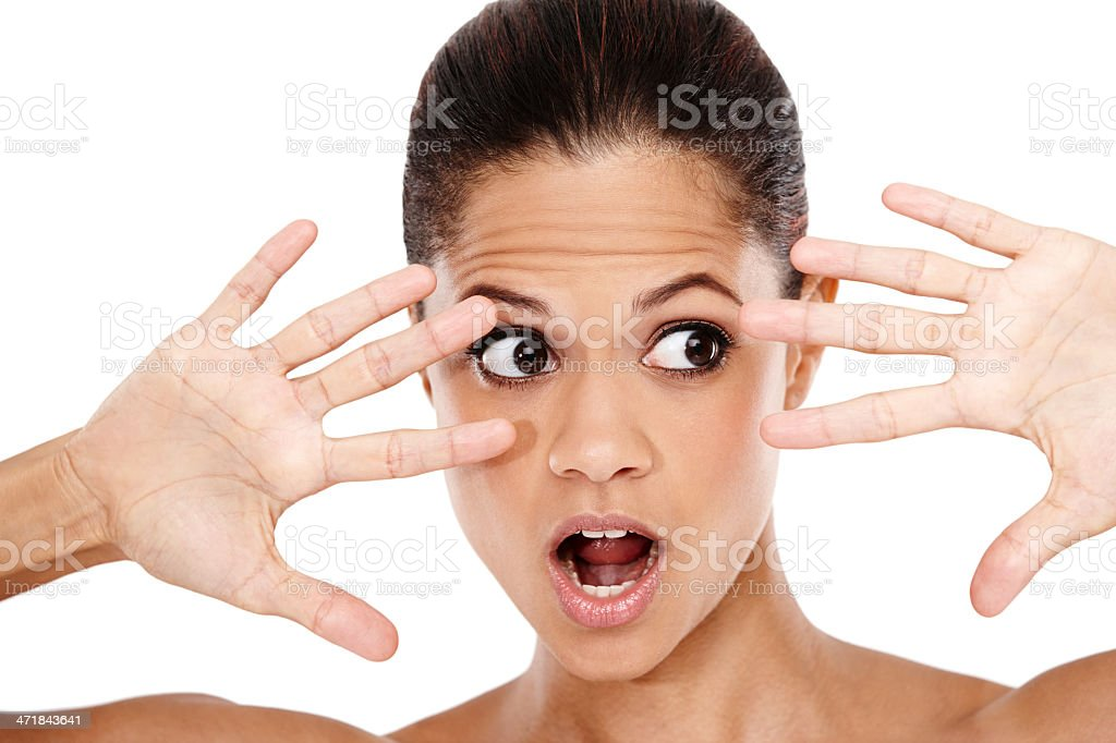 Shocked to the core royalty-free stock photo