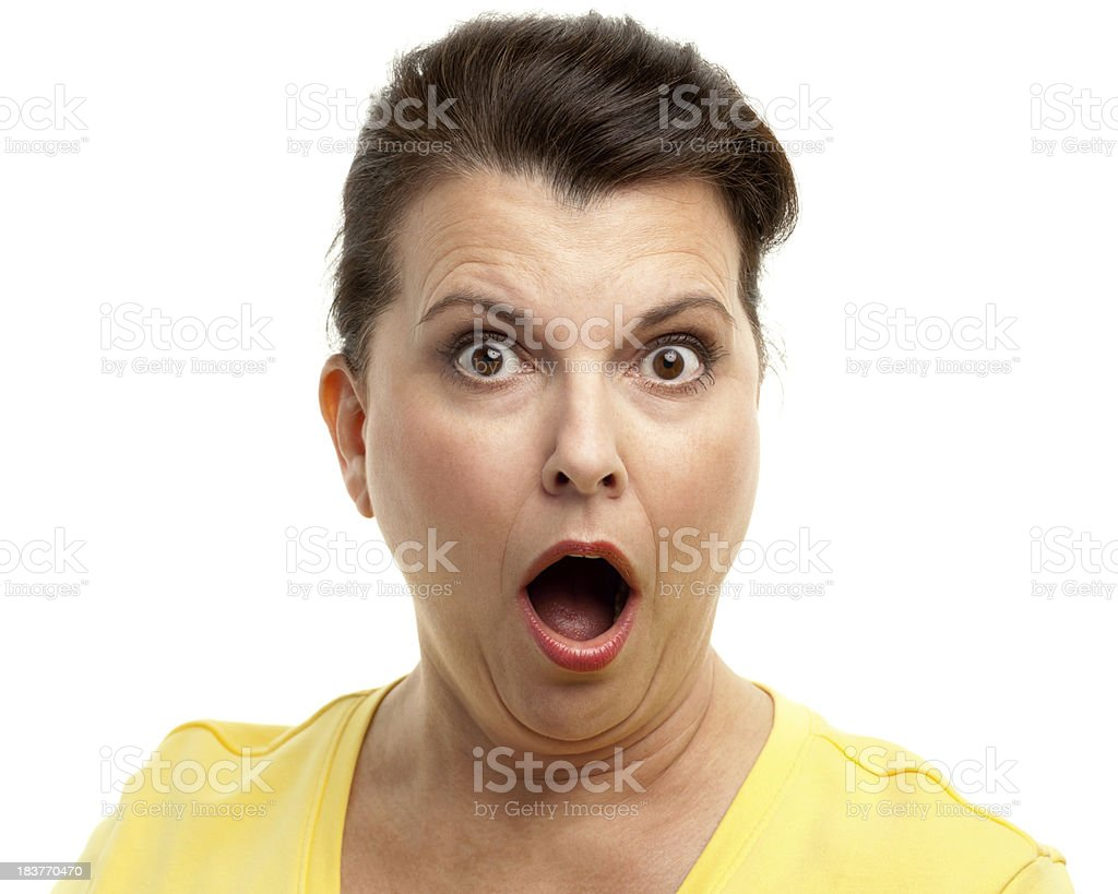 Shocked Woman Gasping royalty-free stock photo