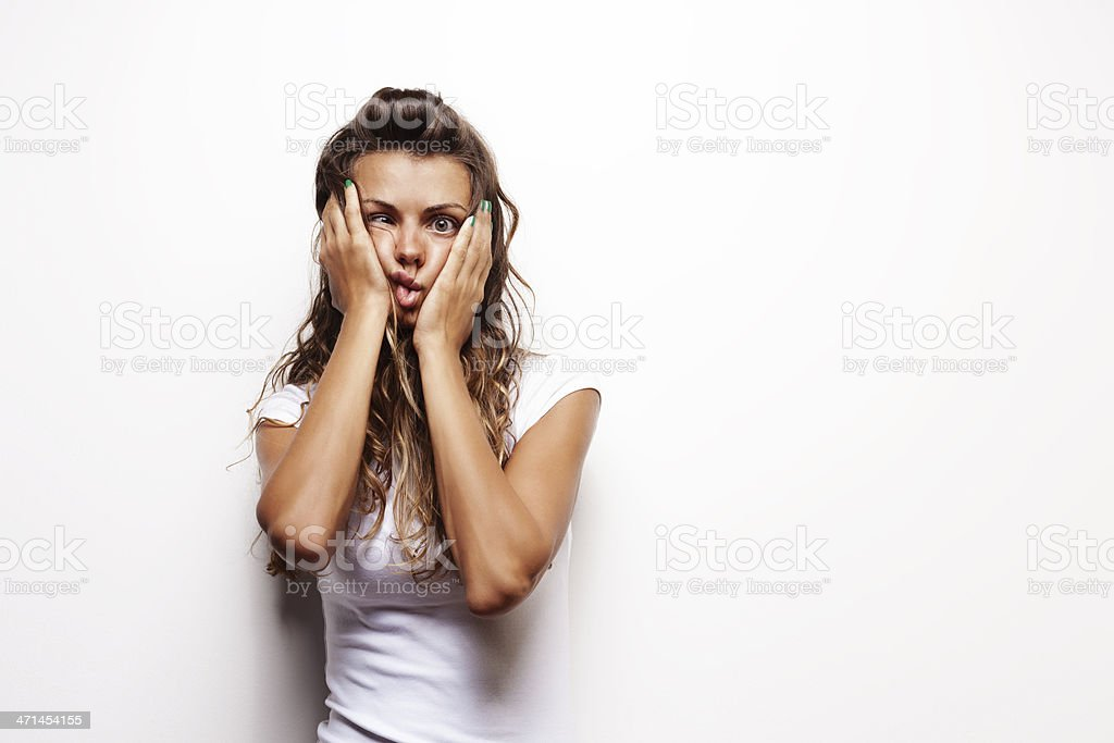 Shocked Woman stock photo