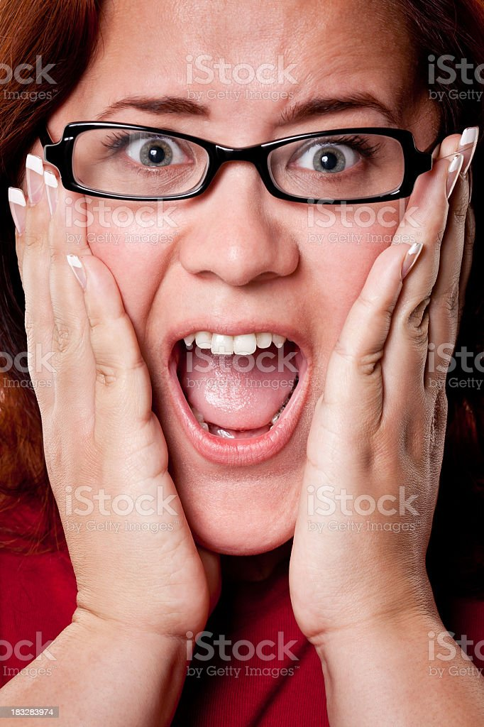 Shocked Young Woman royalty-free stock photo