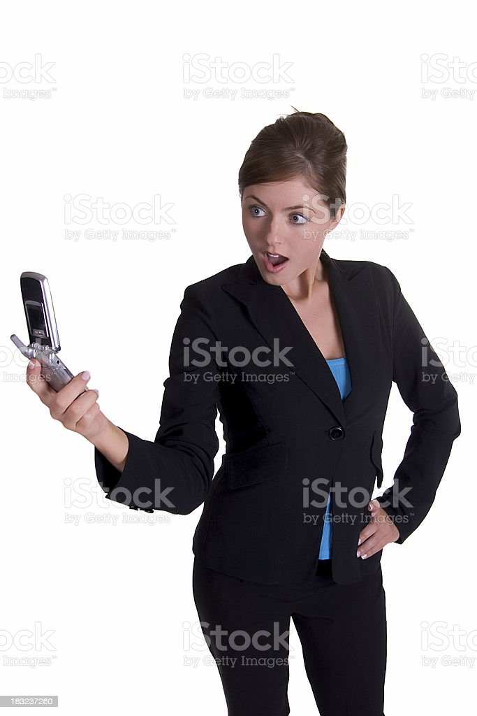 Shocking call royalty-free stock photo