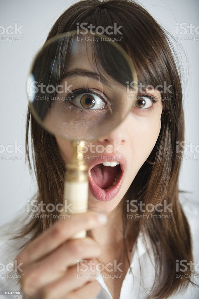 Shocking discovery royalty-free stock photo