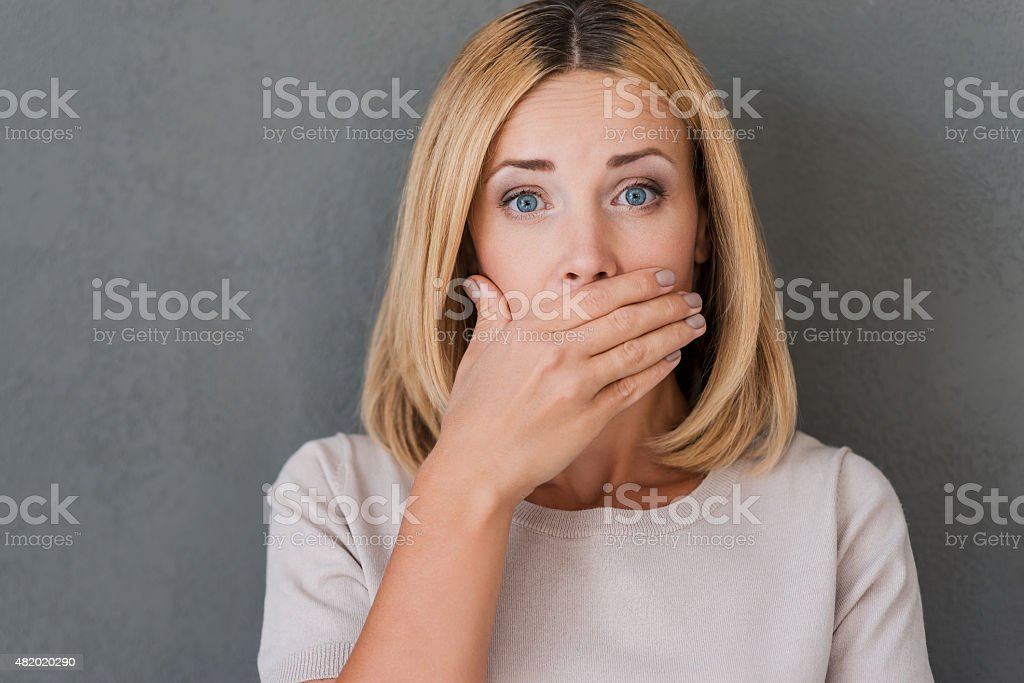 Shocking news. stock photo