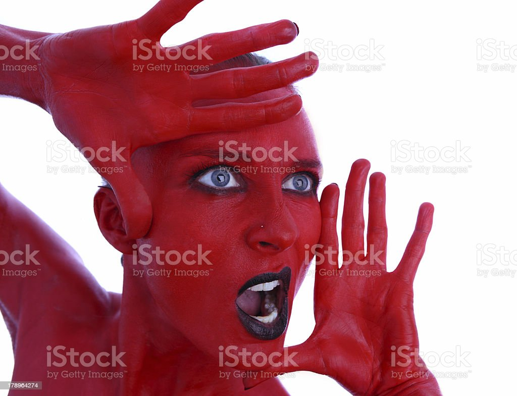 shocking red royalty-free stock photo