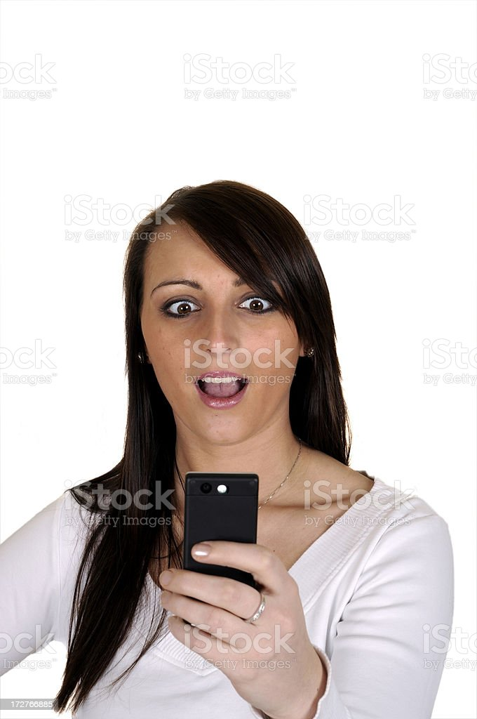 Shocking Text Messages stock photo