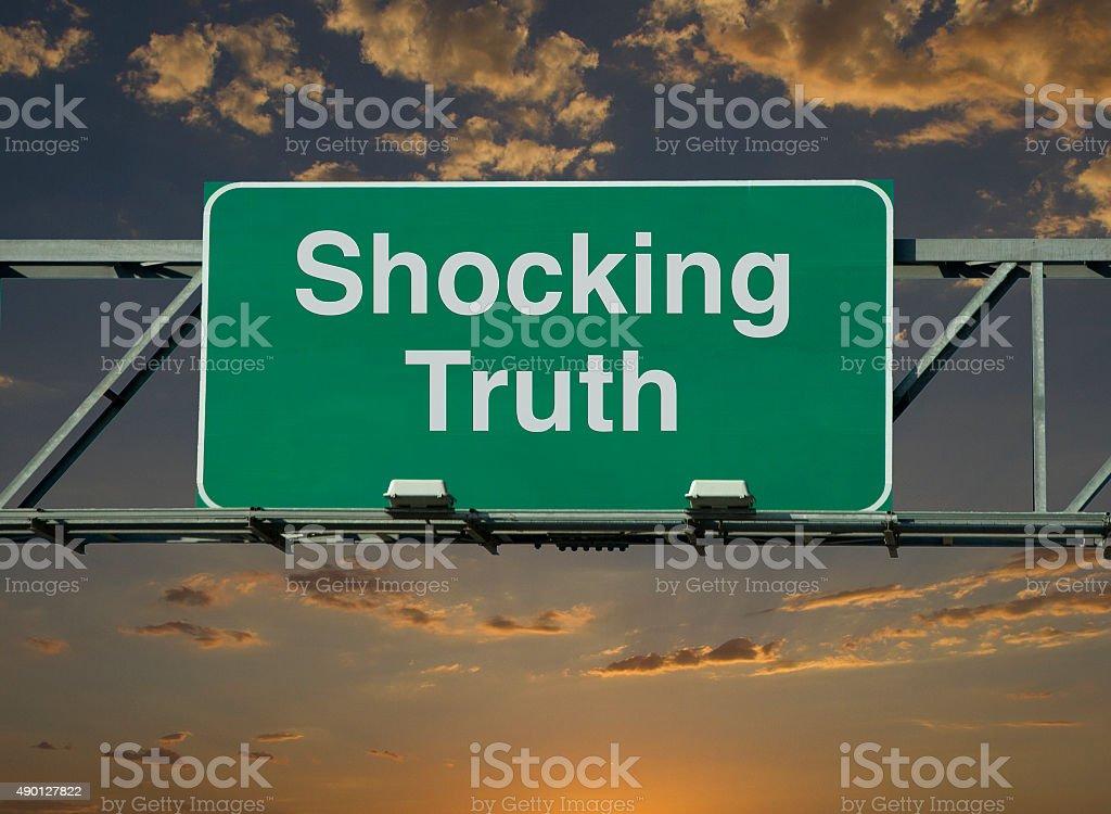 Shocking Truth stock photo