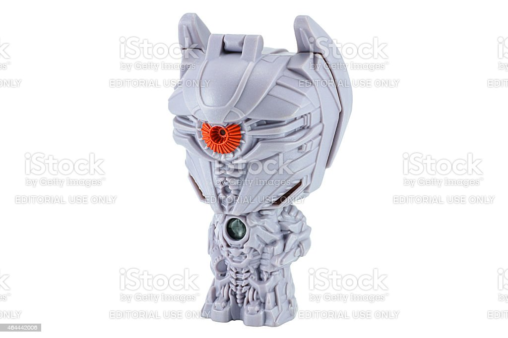 Shockwave toy character from TRANSFORMERS Movie series. stock photo