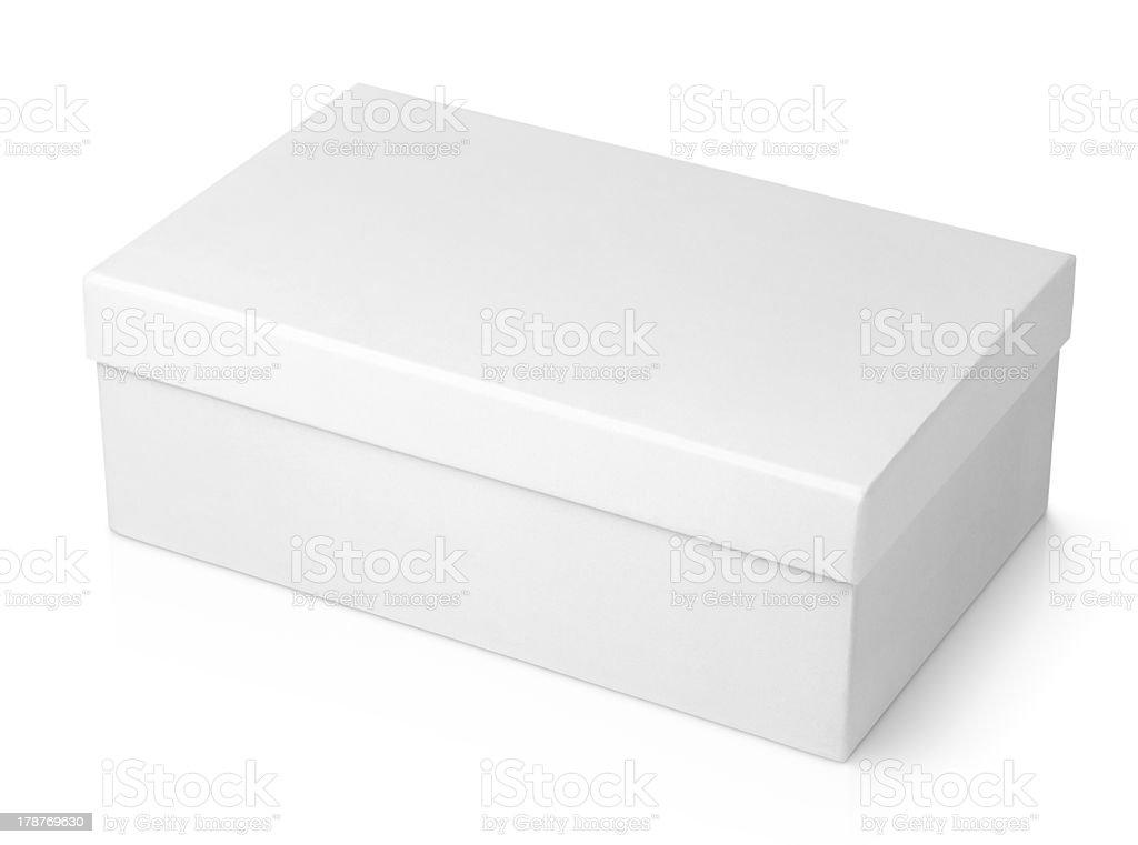 Shoe box isolated on white stock photo