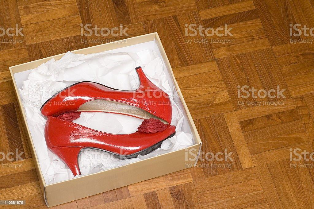 shoe box royalty-free stock photo