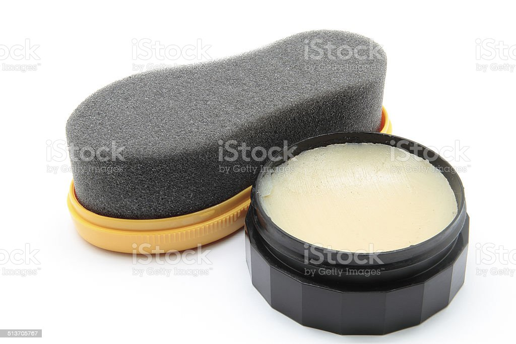 shoe cleaner stock photo