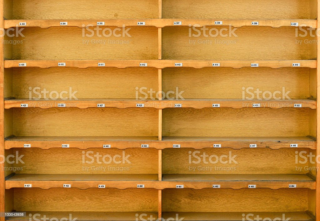 Shoe Cupboard for Mosque stock photo