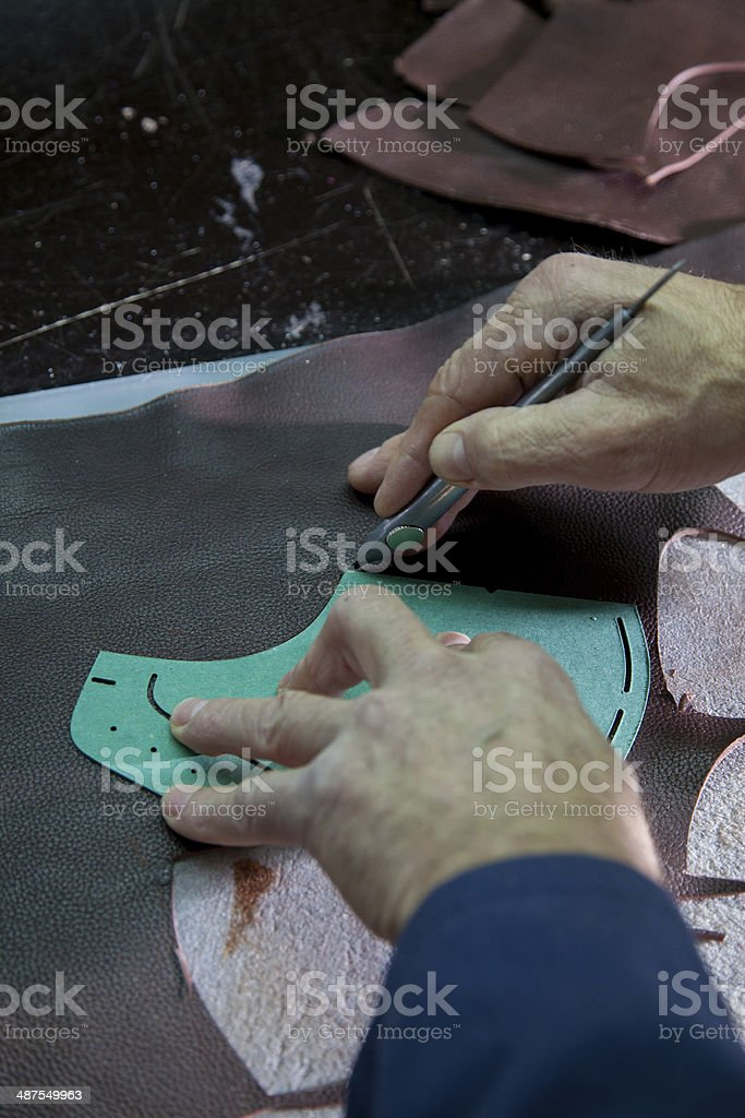 shoe factory stock photo