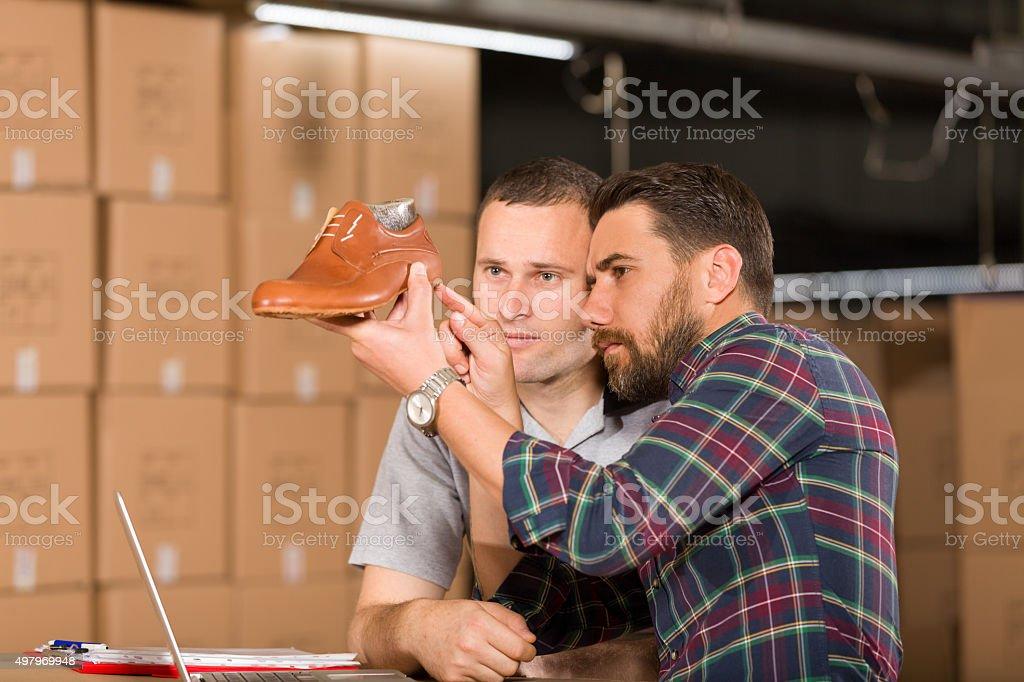 Shoe Factory stock photo