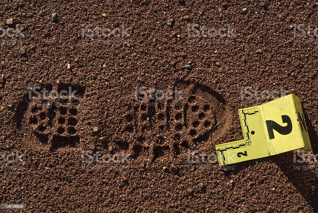 Shoe Impression closeup stock photo