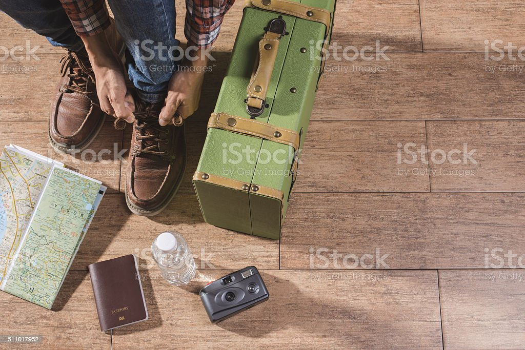Shoe laces and acc stock photo