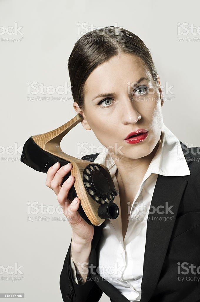 shoe phone royalty-free stock photo