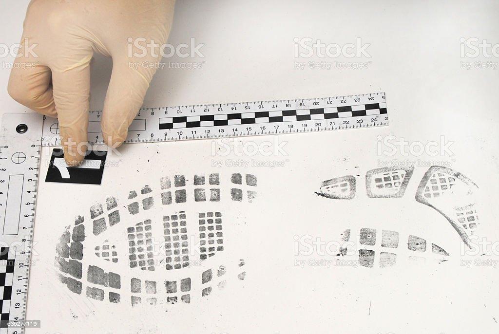 Shoe print stock photo