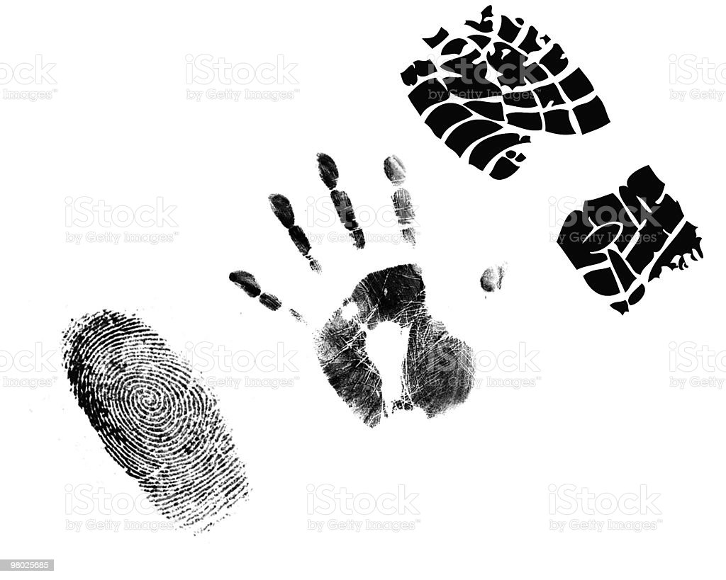 shoe print stock photo