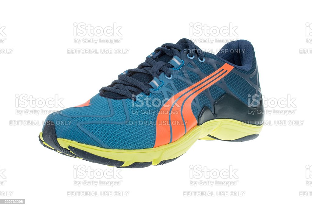 PUMA MOBIUM ELITE  shoe. Puma, a major German company. Isolated stock photo
