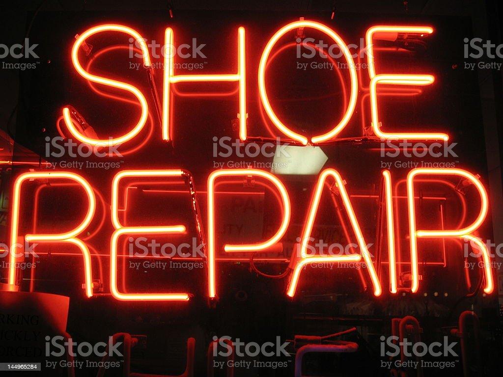 Shoe Repair Sign stock photo