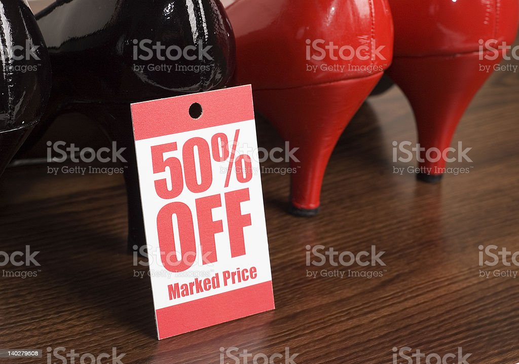 shoe sale royalty-free stock photo