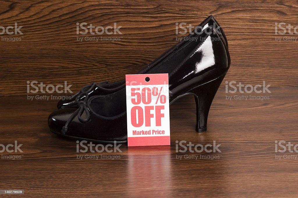 Shoe sale royalty-free stock photo