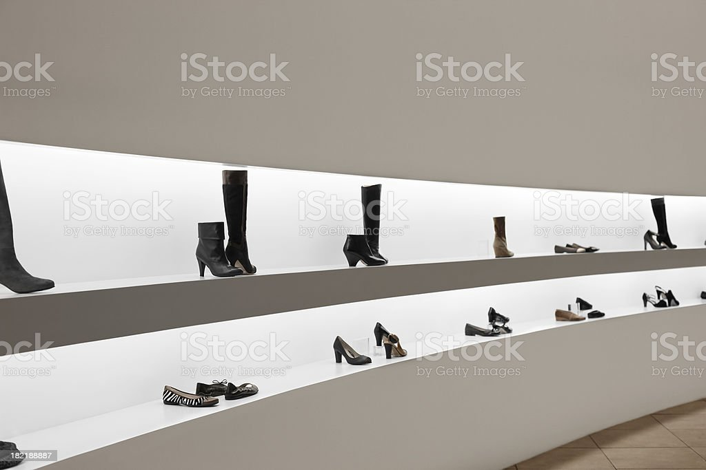 Shoe shop stock photo