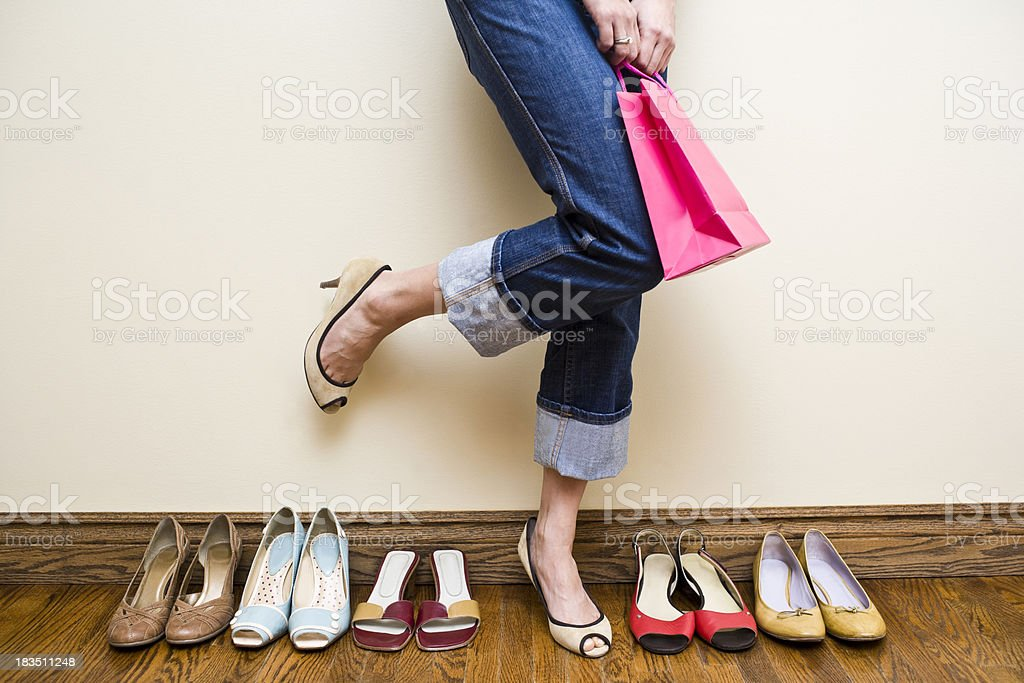 Shoe Shopping royalty-free stock photo