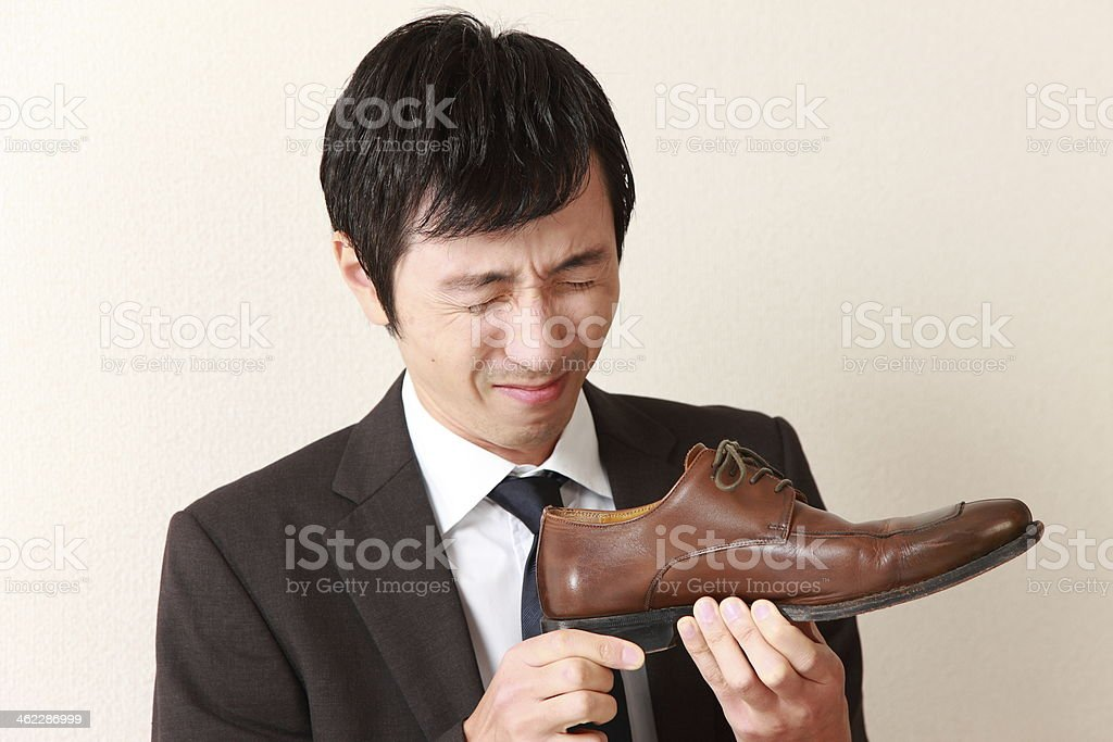shoe smell stock photo