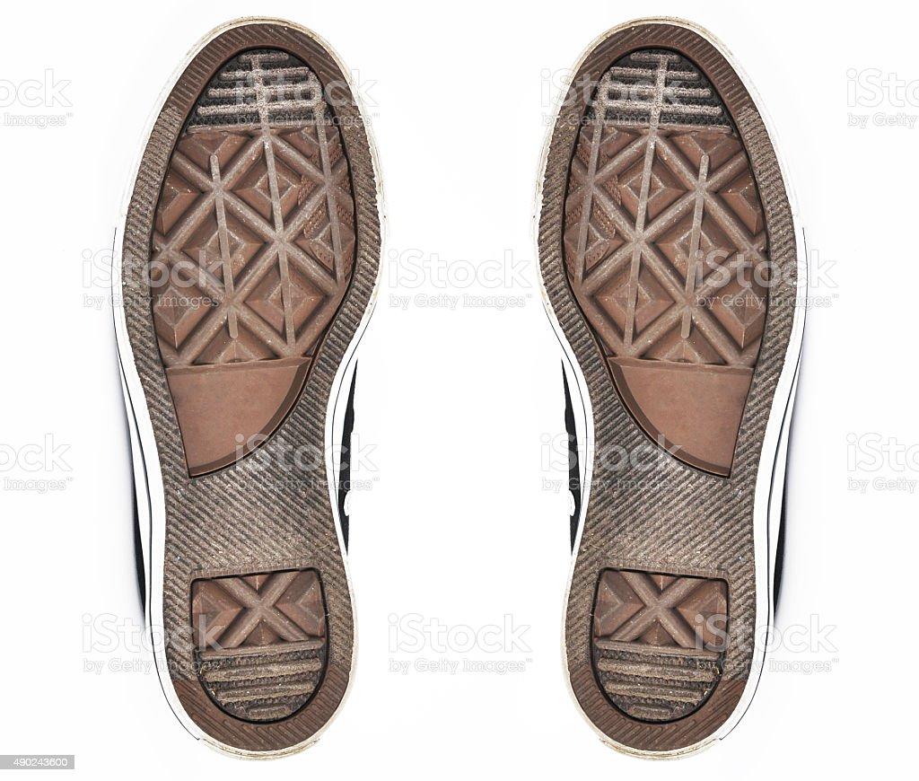 Shoe soles stock photo