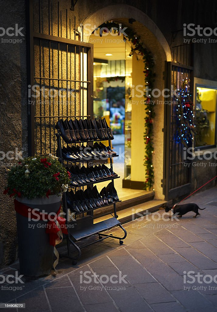 Shoe Store. Color Image royalty-free stock photo