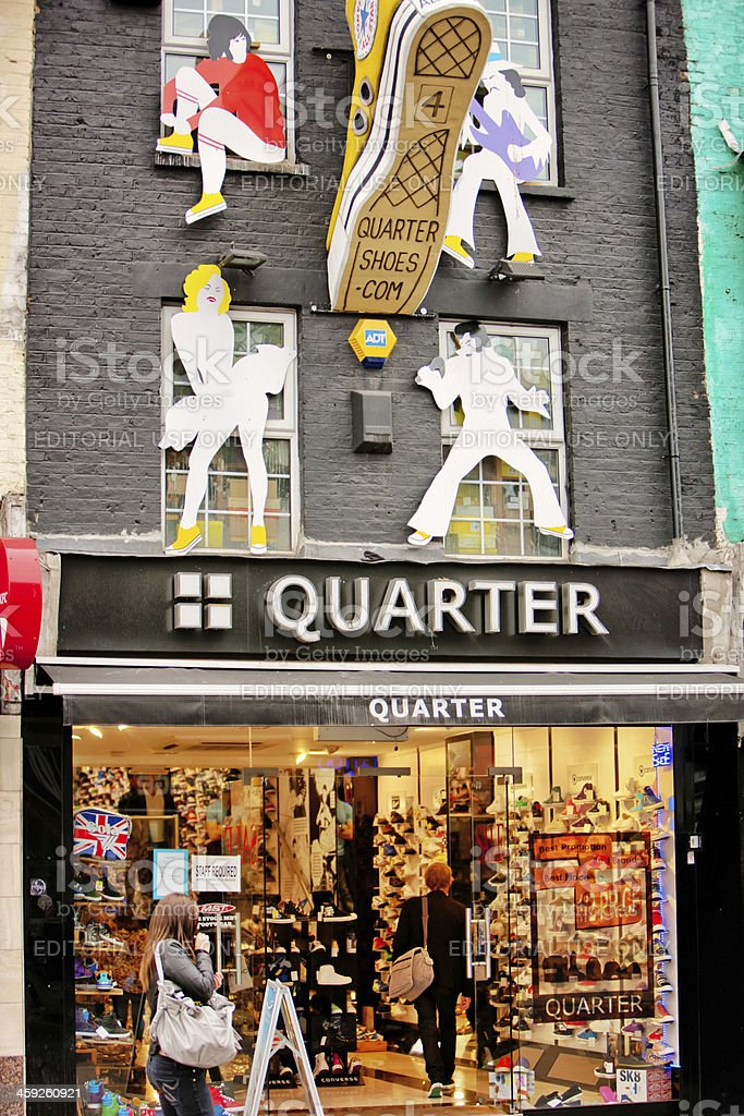Shoe Store Quarter in Camden Town, London royalty-free stock photo
