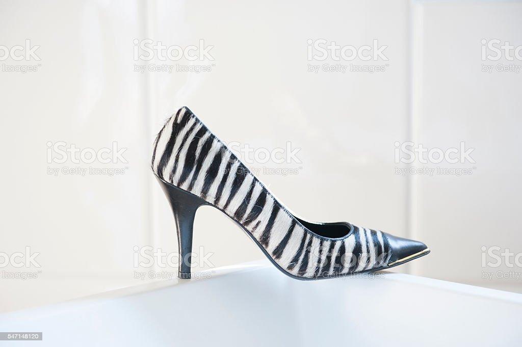 Shoe streaked stock photo